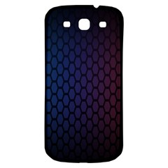 Hexagon Colorful Pattern Gradient Honeycombs Samsung Galaxy S3 S Iii Classic Hardshell Back Case