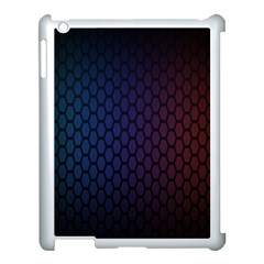 Hexagon Colorful Pattern Gradient Honeycombs Apple iPad 3/4 Case (White)
