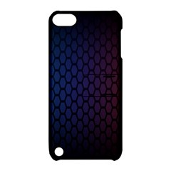 Hexagon Colorful Pattern Gradient Honeycombs Apple Ipod Touch 5 Hardshell Case With Stand