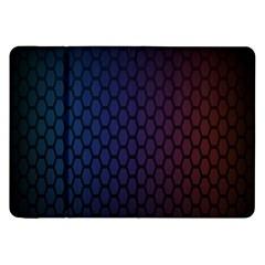 Hexagon Colorful Pattern Gradient Honeycombs Samsung Galaxy Tab 8 9  P7300 Flip Case