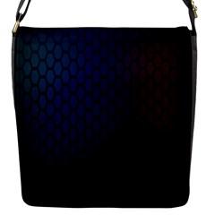 Hexagon Colorful Pattern Gradient Honeycombs Flap Messenger Bag (s)