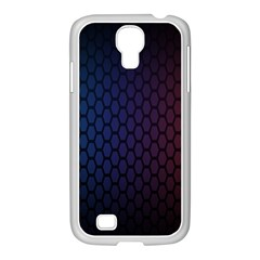 Hexagon Colorful Pattern Gradient Honeycombs Samsung Galaxy S4 I9500/ I9505 Case (white)