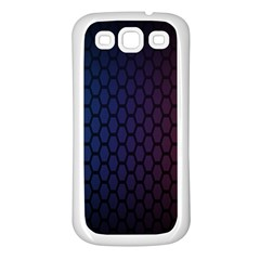 Hexagon Colorful Pattern Gradient Honeycombs Samsung Galaxy S3 Back Case (White)