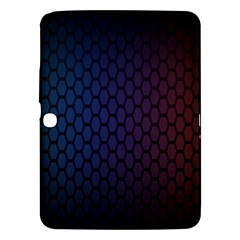 Hexagon Colorful Pattern Gradient Honeycombs Samsung Galaxy Tab 3 (10.1 ) P5200 Hardshell Case