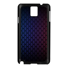 Hexagon Colorful Pattern Gradient Honeycombs Samsung Galaxy Note 3 N9005 Case (Black)