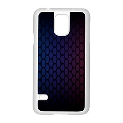 Hexagon Colorful Pattern Gradient Honeycombs Samsung Galaxy S5 Case (white)