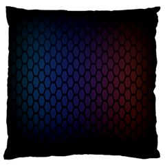 Hexagon Colorful Pattern Gradient Honeycombs Large Flano Cushion Case (two Sides)