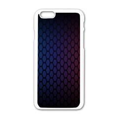 Hexagon Colorful Pattern Gradient Honeycombs Apple iPhone 6/6S White Enamel Case