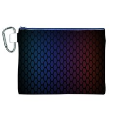 Hexagon Colorful Pattern Gradient Honeycombs Canvas Cosmetic Bag (xl)