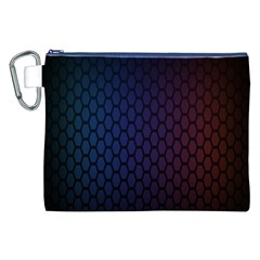 Hexagon Colorful Pattern Gradient Honeycombs Canvas Cosmetic Bag (XXL)