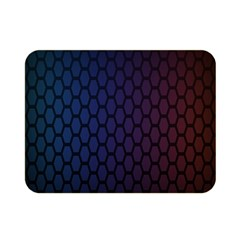 Hexagon Colorful Pattern Gradient Honeycombs Double Sided Flano Blanket (mini)