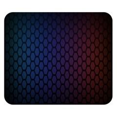 Hexagon Colorful Pattern Gradient Honeycombs Double Sided Flano Blanket (small)