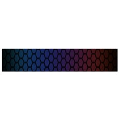 Hexagon Colorful Pattern Gradient Honeycombs Flano Scarf (small)