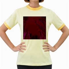 Abstract Purple Pattern Women s Fitted Ringer T-Shirts