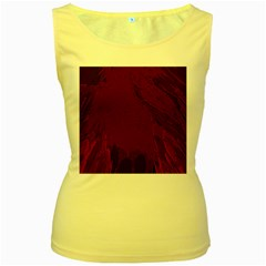 Abstract Purple Pattern Women s Yellow Tank Top