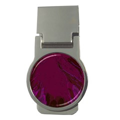 Abstract Purple Pattern Money Clips (round)