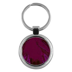 Abstract Purple Pattern Key Chains (Round)