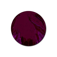 Abstract Purple Pattern Rubber Round Coaster (4 pack)