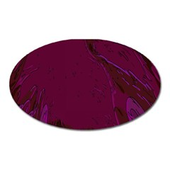 Abstract Purple Pattern Oval Magnet