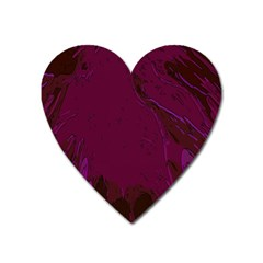 Abstract Purple Pattern Heart Magnet