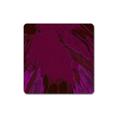 Abstract Purple Pattern Square Magnet