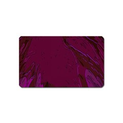 Abstract Purple Pattern Magnet (name Card)