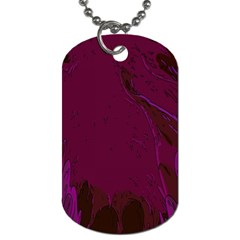 Abstract Purple Pattern Dog Tag (One Side)