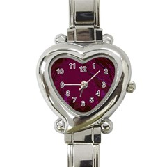 Abstract Purple Pattern Heart Italian Charm Watch