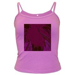 Abstract Purple Pattern Dark Spaghetti Tank