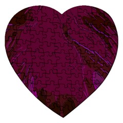 Abstract Purple Pattern Jigsaw Puzzle (Heart)