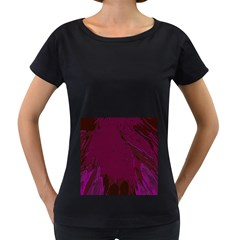 Abstract Purple Pattern Women s Loose Fit T Shirt (black)