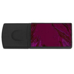 Abstract Purple Pattern USB Flash Drive Rectangular (4 GB)