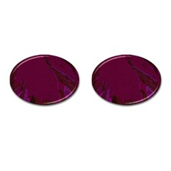 Abstract Purple Pattern Cufflinks (Oval)