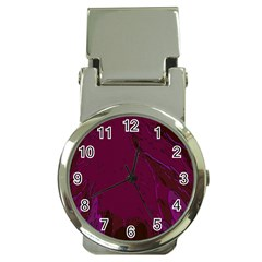 Abstract Purple Pattern Money Clip Watches
