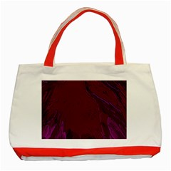 Abstract Purple Pattern Classic Tote Bag (Red)