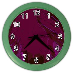 Abstract Purple Pattern Color Wall Clocks