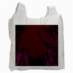 Abstract Purple Pattern Recycle Bag (one Side)