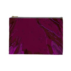 Abstract Purple Pattern Cosmetic Bag (large)