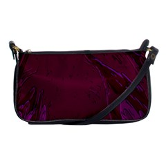 Abstract Purple Pattern Shoulder Clutch Bags