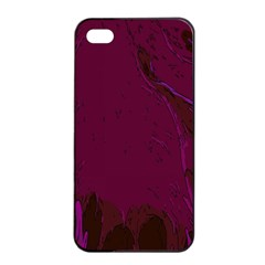 Abstract Purple Pattern Apple iPhone 4/4s Seamless Case (Black)