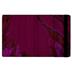Abstract Purple Pattern Apple Ipad 2 Flip Case