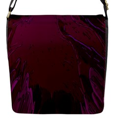 Abstract Purple Pattern Flap Messenger Bag (S)