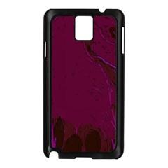 Abstract Purple Pattern Samsung Galaxy Note 3 N9005 Case (Black)