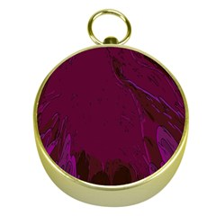 Abstract Purple Pattern Gold Compasses