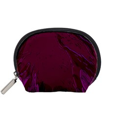 Abstract Purple Pattern Accessory Pouches (Small)