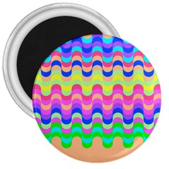 Dna Early Childhood Wave Chevron Woves Rainbow 3  Magnets
