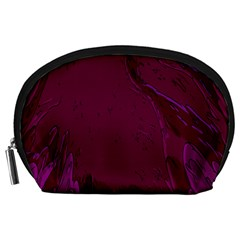 Abstract Purple Pattern Accessory Pouches (Large)