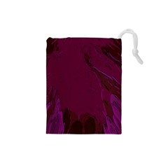 Abstract Purple Pattern Drawstring Pouches (Small)