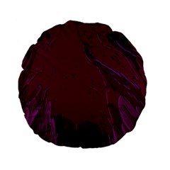 Abstract Purple Pattern Standard 15  Premium Flano Round Cushions