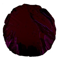 Abstract Purple Pattern Large 18  Premium Flano Round Cushions